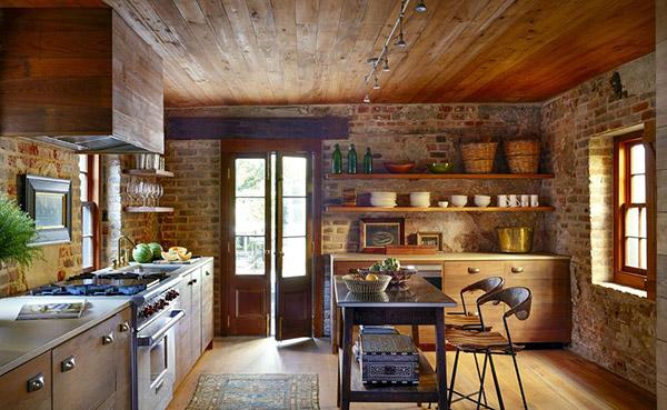 Phòng bếp được sắp xếp ngăn nắp, gọn gàng