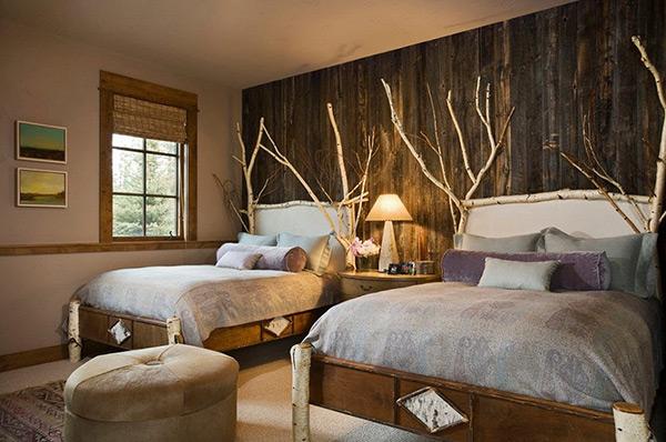 Giường ngủ sử dụng chất liệu vải thiên nhiên đơn giản