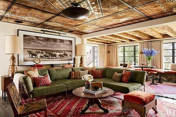 Nội thất phòng khách ưu tiên các món đồ nội thất đơn giản, ấn tượng đến từng chi tiết