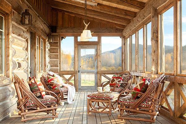 Phong cách Rustic sử dụng gỗ thô với các được nét đơn giản