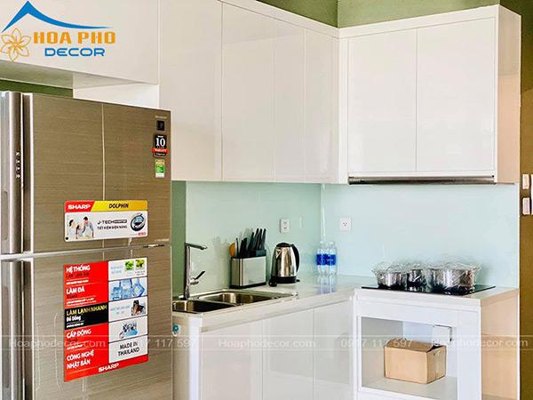 Nội thất bếp đươn giản, đề cao công năng trong quá trình sử dụng
