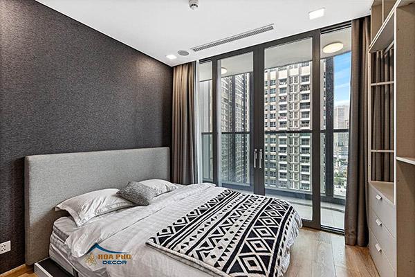 Phòng ngủ với tầm nhìn rộng mở, thoáng đãng