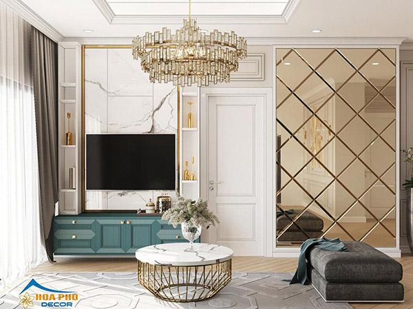 Nội thất phòng khách sử dụng món đồ có thiết kế đơn giản