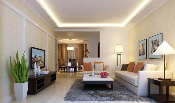 Phòng khách nhà ống 5m với cách bố trí nội thất ấn tượng