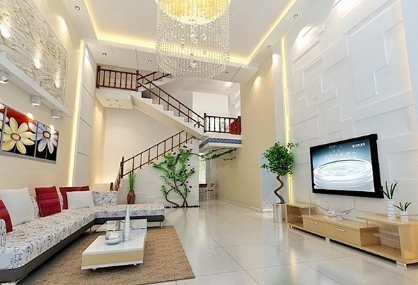 Nội thất phòng khách đẹp với cách phân bổ hợp lý