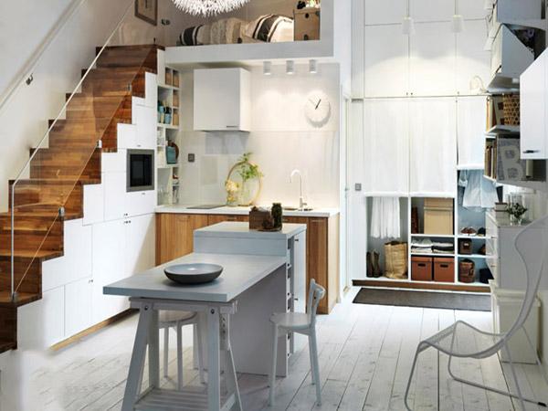 Tủ bếp dưới gầm cầu thang