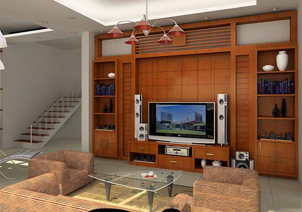 Tủ trang trí kết hợp kệ đựng tivi hiệu quả