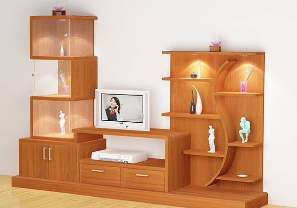 Tủ trang trí với các ngăn được phân chia cụ thể, rõ ràng