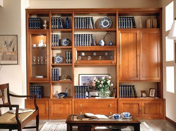 Tủ gỗ trang trí vừa có khả năng đựng đồ vừa có thể trang trí không gian